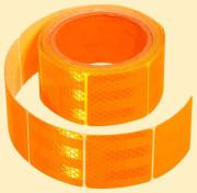 Samolepící páska reflexní dělená 5m x 5cm oranžová (role 5m)