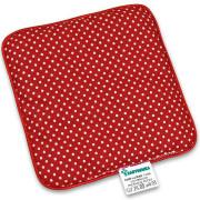 Nahřívací polštářek z třešňových pecek Ribbon 15x15 cm Dots red
