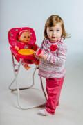 Židlička pro panenky vysoká kov/plast
