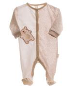 Kojenecký overal dlouhý rukáv/nohavice s medvídkem hnědá/bílá MKCool
