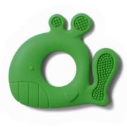 Silikonové kousátko BabyOno Zelená velryba 6 m+