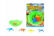 Mini skákající žáby plast na kartě
