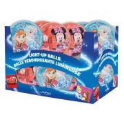 Míč svítící Frozen & Minnie 10 cm