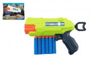 Pistole na pěnové náboje 22cm plast + 6 ks nábojů 2 barvy