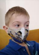Látková respirační rouška - maska pro děti 7 - 12 let s kapsičkou piráti