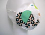 Látková respirační rouška - maska dámská jednovrstvá Sloni mint