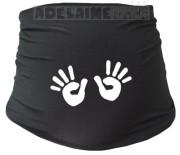 Těhotenský pás s ručičkami - černý