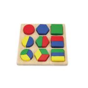 Dřevěná vkládačka - barvy a tvary Viga
