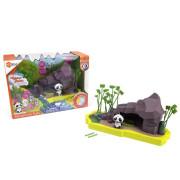 Velký set HEXBUG Lil Nature Babies - Panda Lin a skalní vodopády
