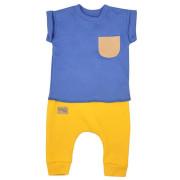 Kojenecké tepláčky a tričko Koala Summer Boy modro-hořčicové