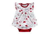 Bavlněné body - šatičky kr. rukáv Srdíčka Baby Service