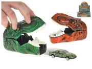 Auto 7 cm kov volný chod vystřelovací z dinosauří hlavy
