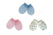 Bavlněné rukavičky pro novorozence úplet Pruhy a hvězdy Baby service Vel. 1
