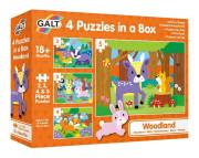 4 Puzzle v krabici - V lese 18 m+