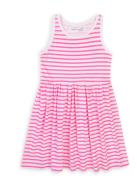 Šaty dívčí bavlněné Minoti 6KDRESS 14, růžová