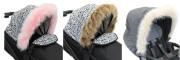 Universální ozdobný lem z umělé kožešiny pro stříšky dětských kočárků