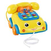 Telefonek 16 cm naučný žluto-modrý 2 funkce se světlem a zvukem 12m +