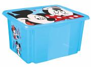 """Úložný box s víkem """"Mickey"""", Modrá 45 l"""