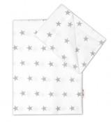 Bavlněné povlečení Baby Nellys 120 x 90 cm Hvězdičky v bílém