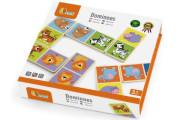 Dřevěné domino Viga - divoká zvířátka