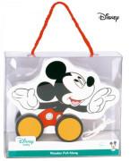Disney Dřevěný tahací Mickey Mouse