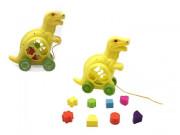 Vkládačka dinosaurus tahací plast