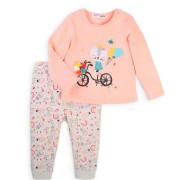 Dívčí set - tričko a tepláky Minoti Balloon 1 Růžová
