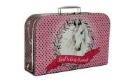 Kufřík kůň růžový 35 cm