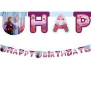 Banner - Ledové království Happy Birthday