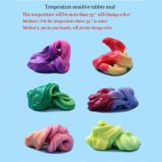 Inteligentní plastelína měnící barvu 78g