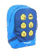 Lego Faces Blue - školní batoh