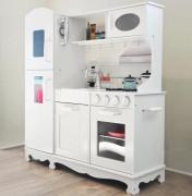 Derrson XXL Dřevěná kuchyňka bílá s příslušenstvím