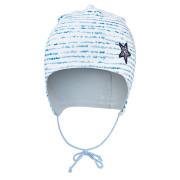 Čepice podšitá zavazovací Outlast® - modrý proužek/sv.modrá