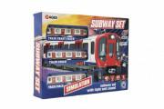Metro/vlak/tramvaj plast s kolejemi na baterie se světlem se zvukem