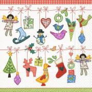 Vánoční ubrousky SusyCard