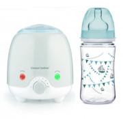 Elektrický ohřívač lahví Canpol babies + zdarma láhev Párty 240 ml modrá