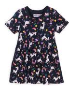 Šaty dívčí bavlněné Minoti 6TDRESS 3, modrá