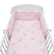 3-dílné ložní povlečení New Baby 90/120 cm Králíčci růžové