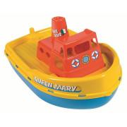 Loď se sirénou - délka 39 cm Androni žlutá paluba