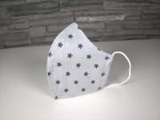 Látková respirační rouška - maska dámská jednovrstvá Hvězdy šedá