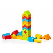 Sada 5 věží - dřevěná skládačka Cubika