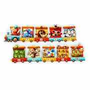 Naučné puzzle 20 dílků Puzzlika - Vlak
