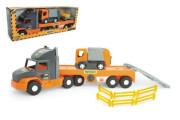 Auto nákladní Super Tech Truck návěs 78cm + auto popelář 24cm plast Wader