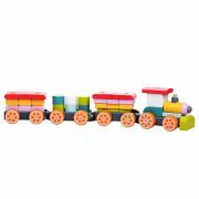 Vláček tři vagony - dřevěná skládačka Cubika