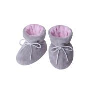 Kojenecké botičky Minky Teddy růžová