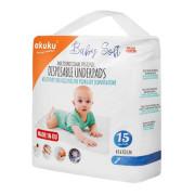 Jednorázové hygienické podložky Akuku Baby Soft 40x60 cm 15ks