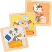 Disney Dřevěné puzzle 3v1