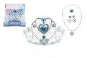 Sada krásy plast korunka, náhrdelník, naušnice, prsten 5ks