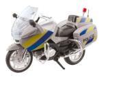 Motorka policejní kovová 18 cm