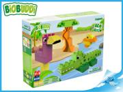 BiOBUDDi stavebnice Wildlife Lagoon zvířátka 25 ks 18 m+